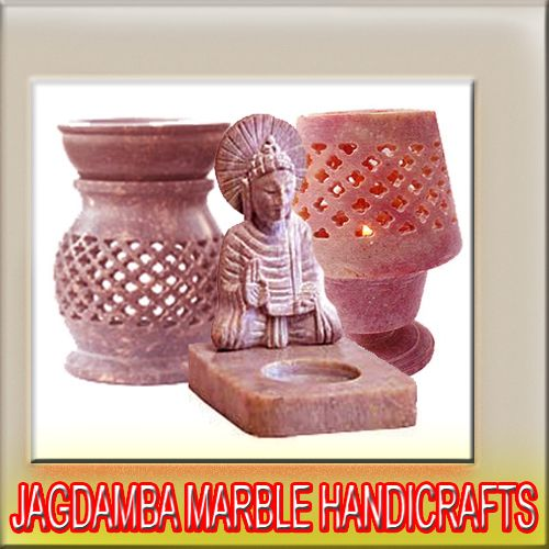 God Idols, Carved Soapstone Elephant, Marble Taj Mahal